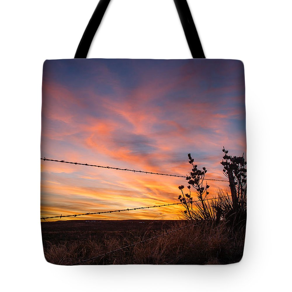 Morton County Tote Bag featuring the photograph Yucca Sunset by Paul Moore