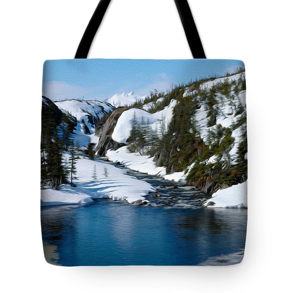 Alaska Tote Bag featuring the photograph Yukon View by Tracy Winter