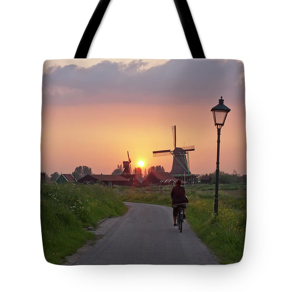 North Holland Tote Bag featuring the photograph Zaanse Schans Windmills by Ivan