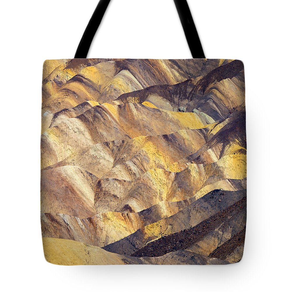 Zabriskie Point Tote Bag featuring the photograph Zabriskie Color by Mike Dawson