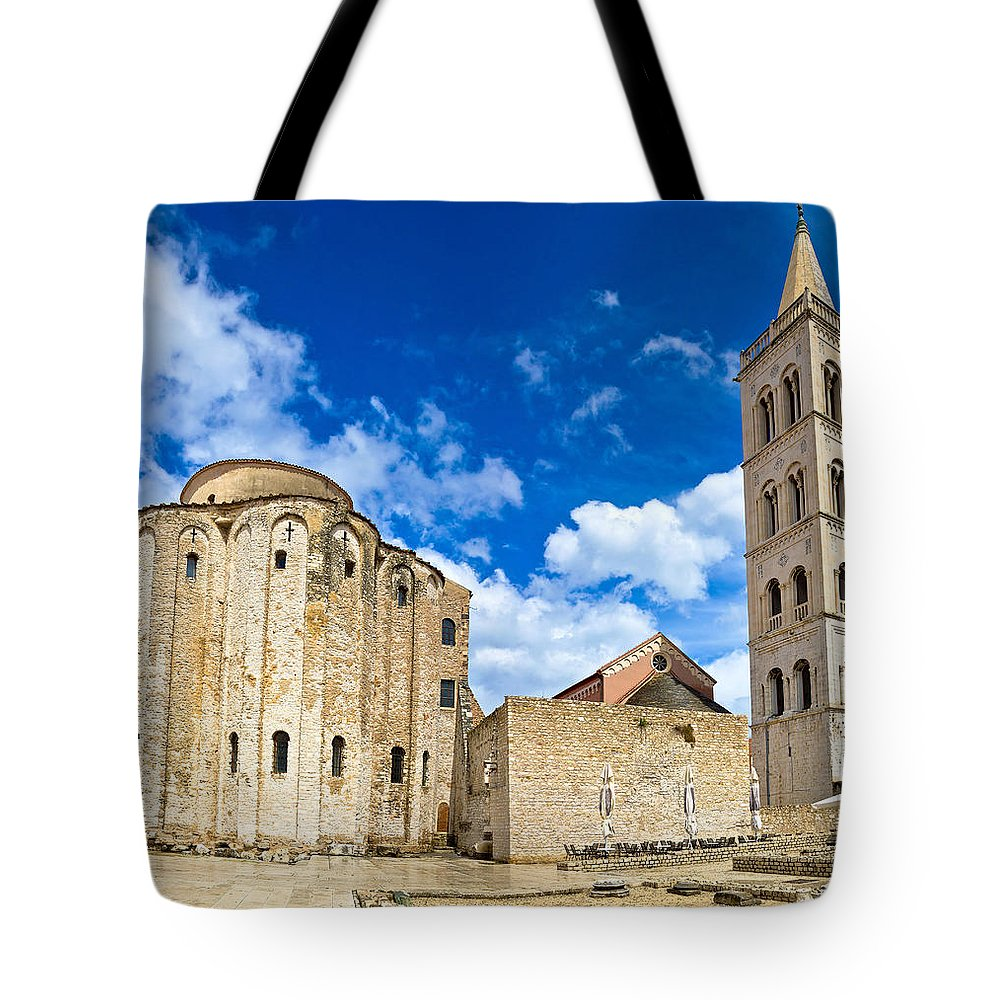 Croatia Tote Bag featuring the photograph Zadar Cathedral Famous Landmark Of Croatia by Brch Photography