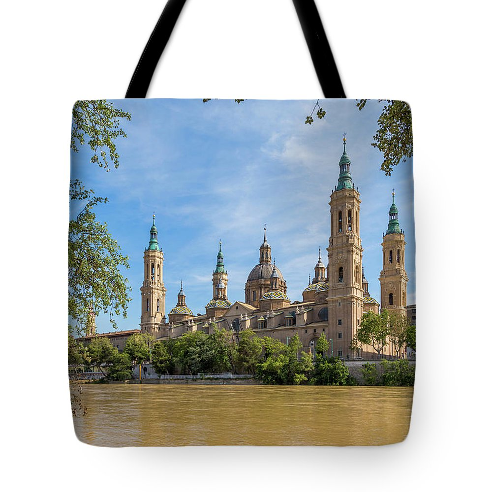 Photography Tote Bag featuring the photograph Zaragoza, Zaragoza Province, Aragon by Panoramic Images