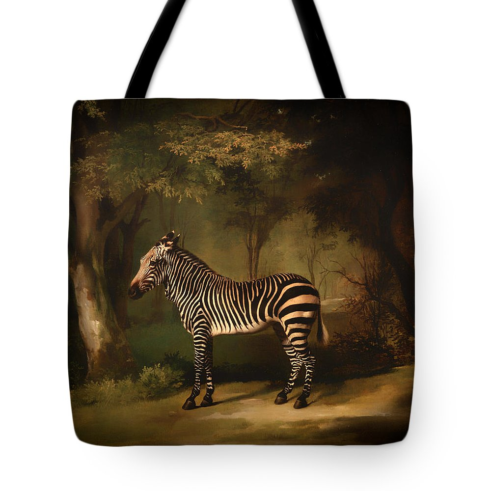 Painting Tote Bag featuring the painting Zebra by Mountain Dreams