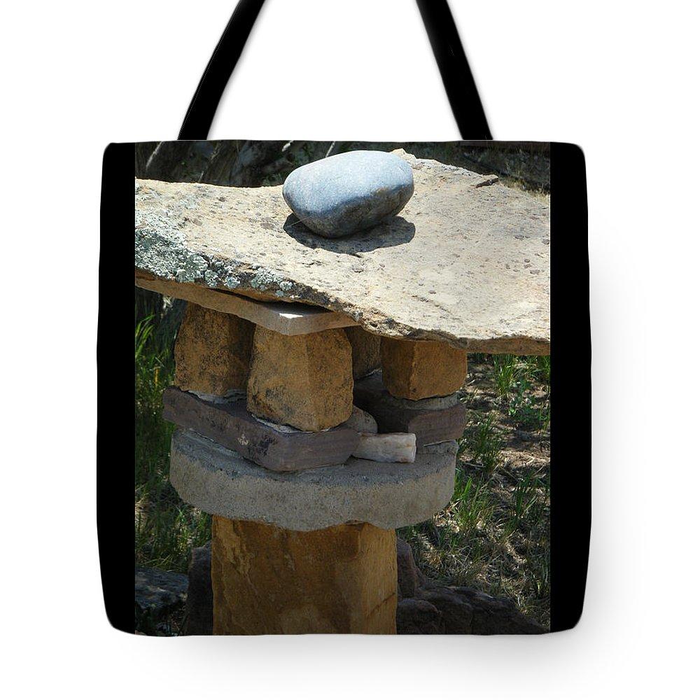 Rock Tote Bag featuring the photograph Zen Rocks In Balance by Tamara Kulish