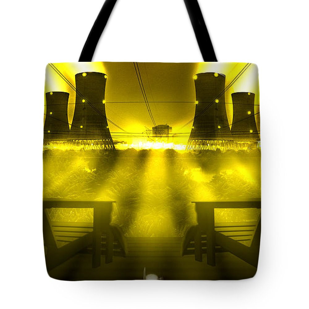 Surrealism Tote Bag featuring the photograph Zero Hour In Yellow by Mike McGlothlen