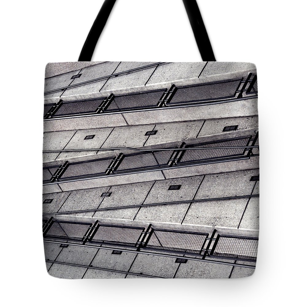 Architecture Tote Bag featuring the photograph Zig Zag by Art Block Collections