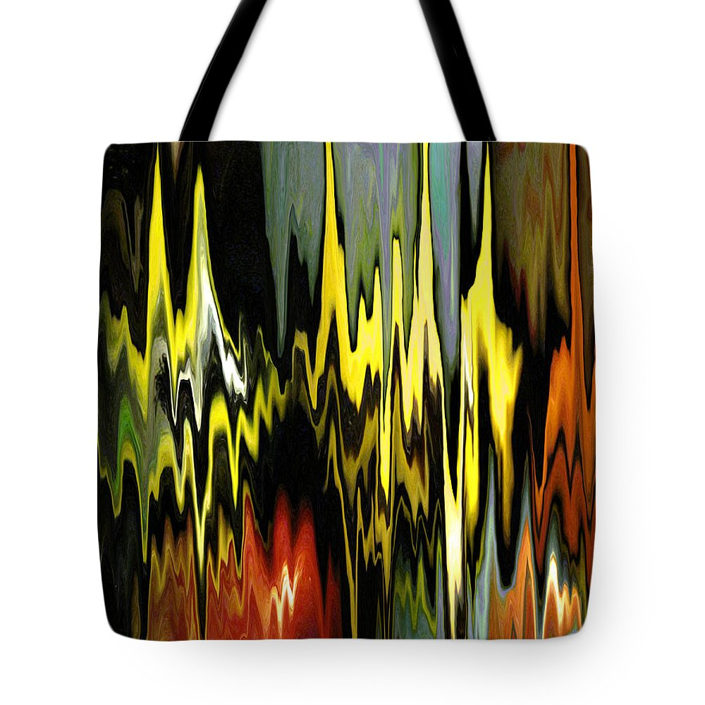 Bright Tote Bag featuring the digital art Zig Zag by Mary Bedy