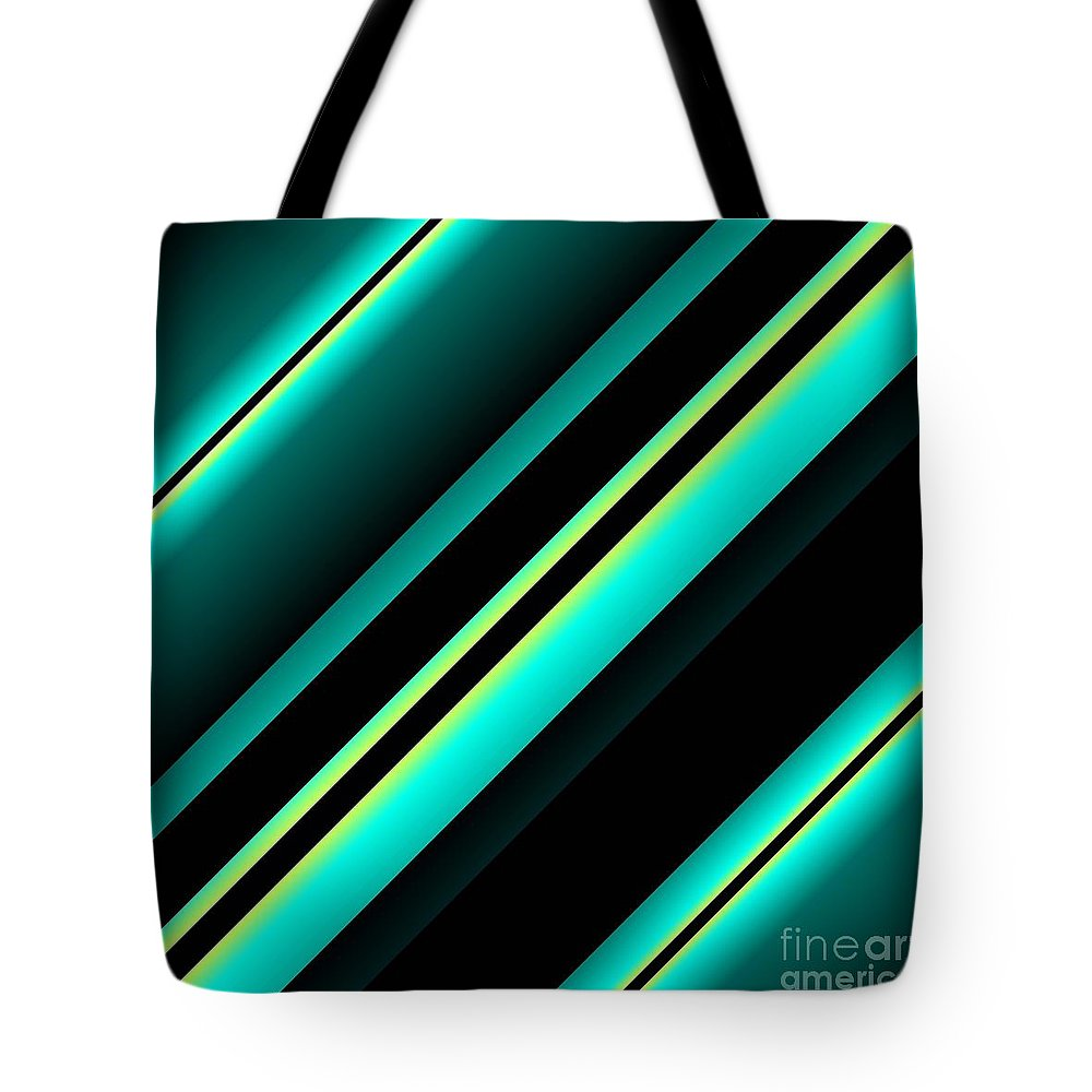 Stripes Tote Bag featuring the painting Zip-line by Claire Masters