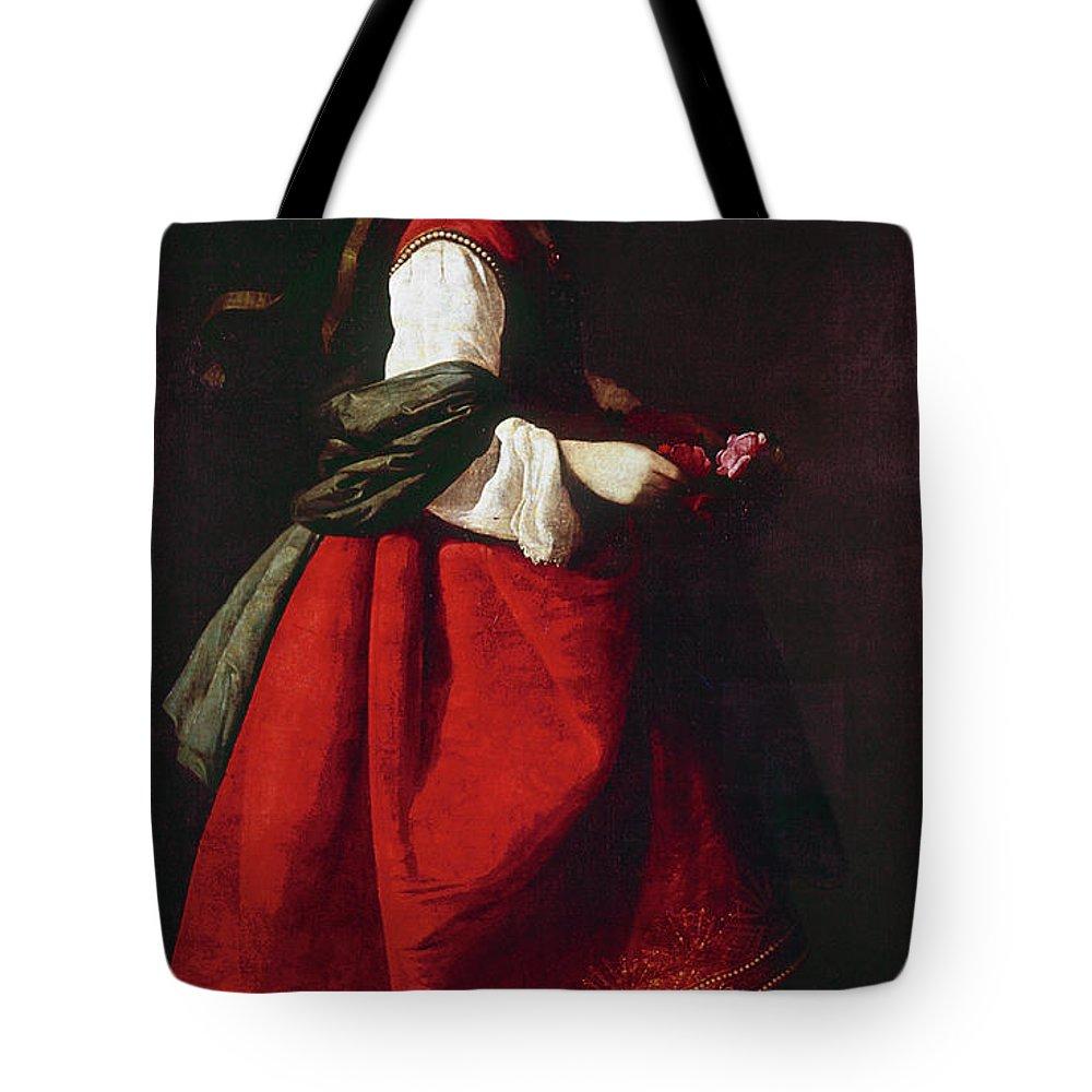 1642 Tote Bag featuring the painting Zurbur�n Saint Casilda by Granger