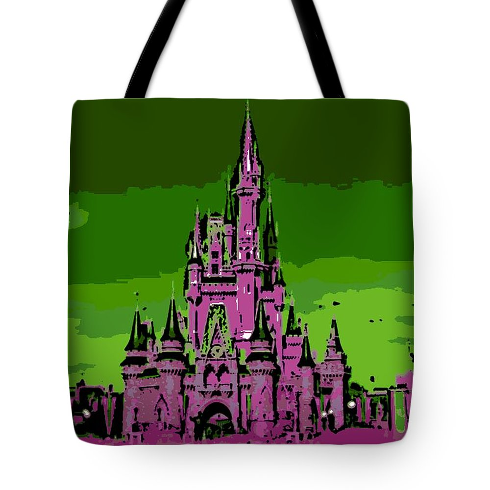 Disney World Tote Bag featuring the photograph Castle Of Dreams by George Pedro