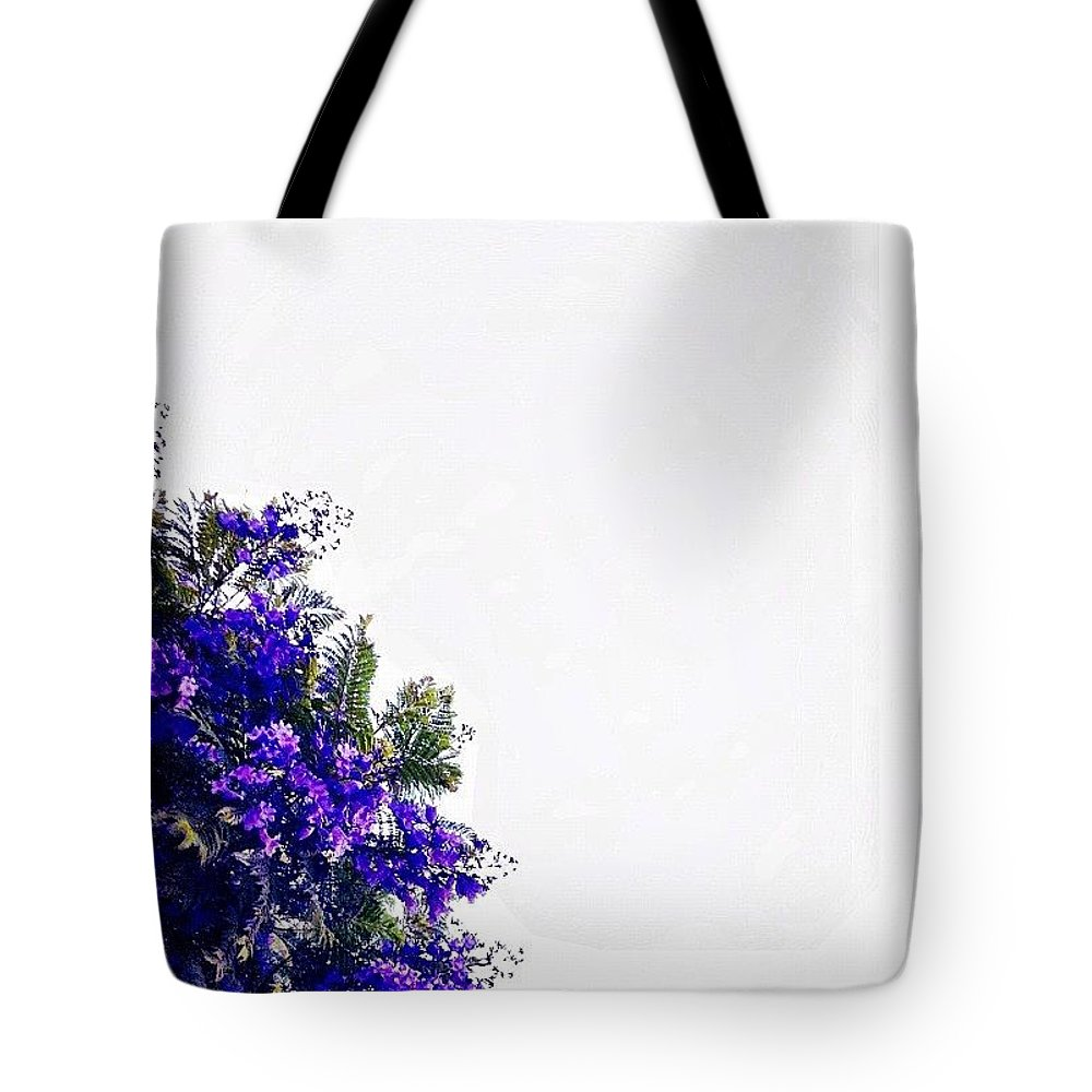 Purple Tote Bag featuring the photograph Corner Bouquet by Julie Gebhardt