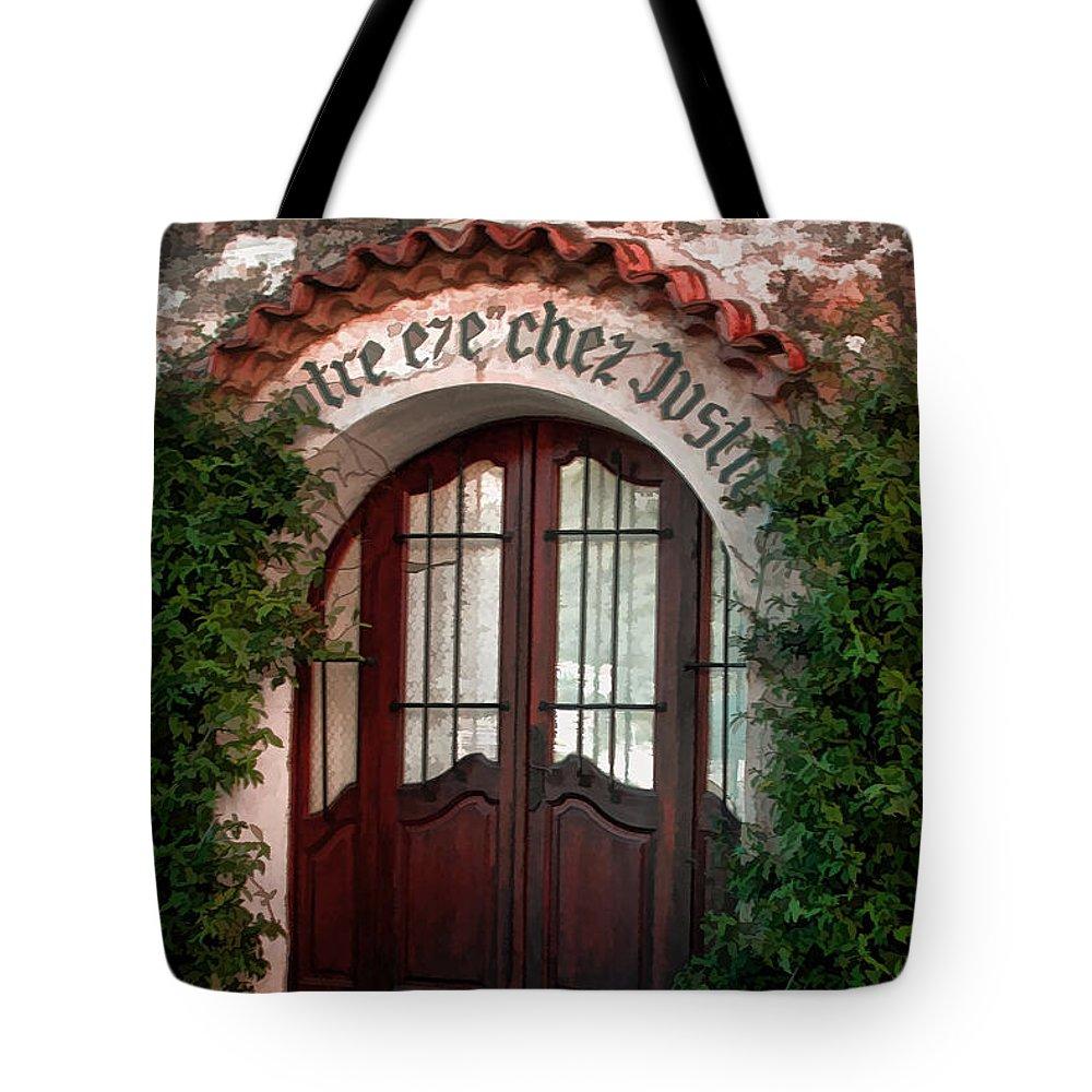 Tom Prendergast Tote Bag featuring the photograph Doorway Eze by Tom Prendergast
