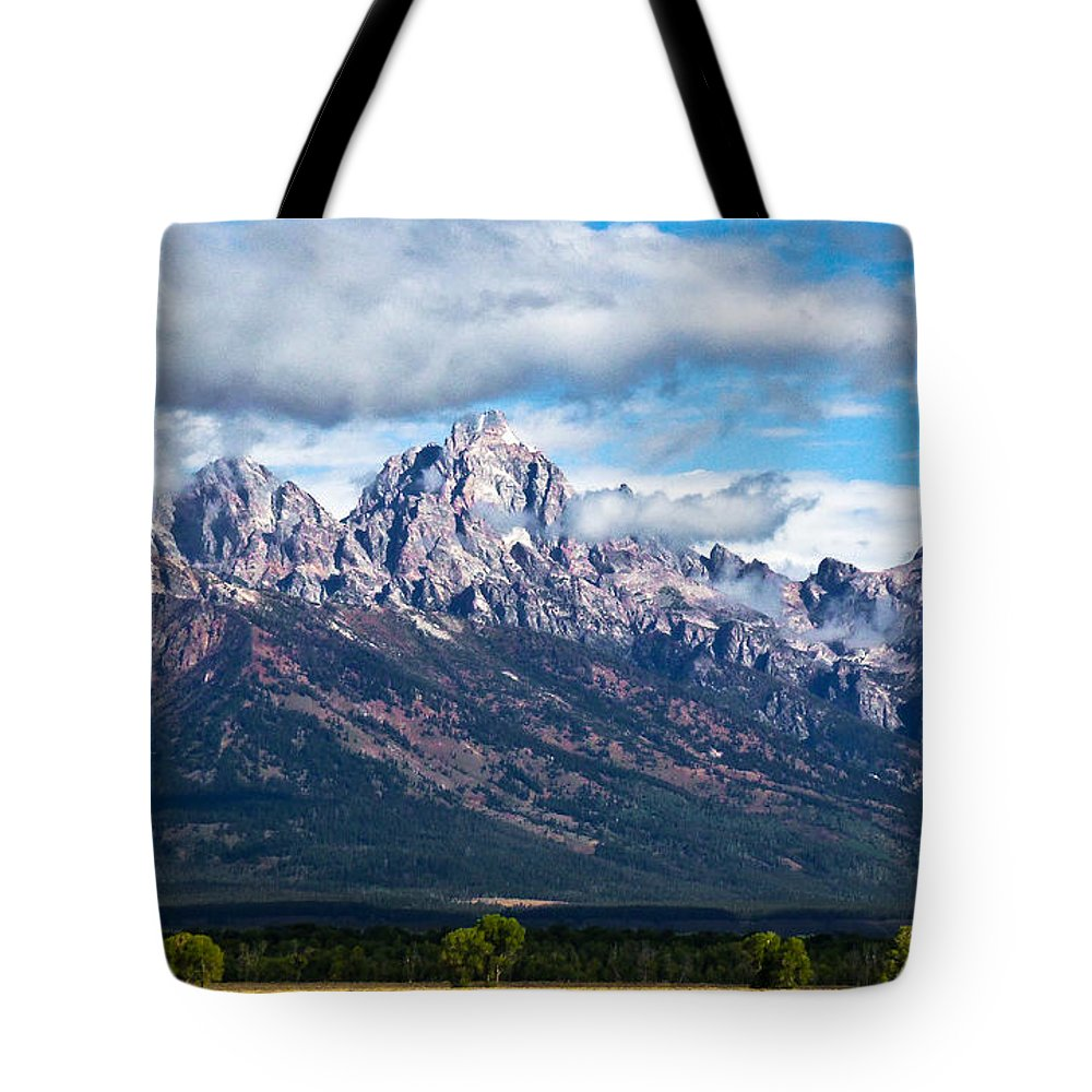 Grand Tetons Tote Bag featuring the photograph Light On The Grand Tetons by David Patterson
