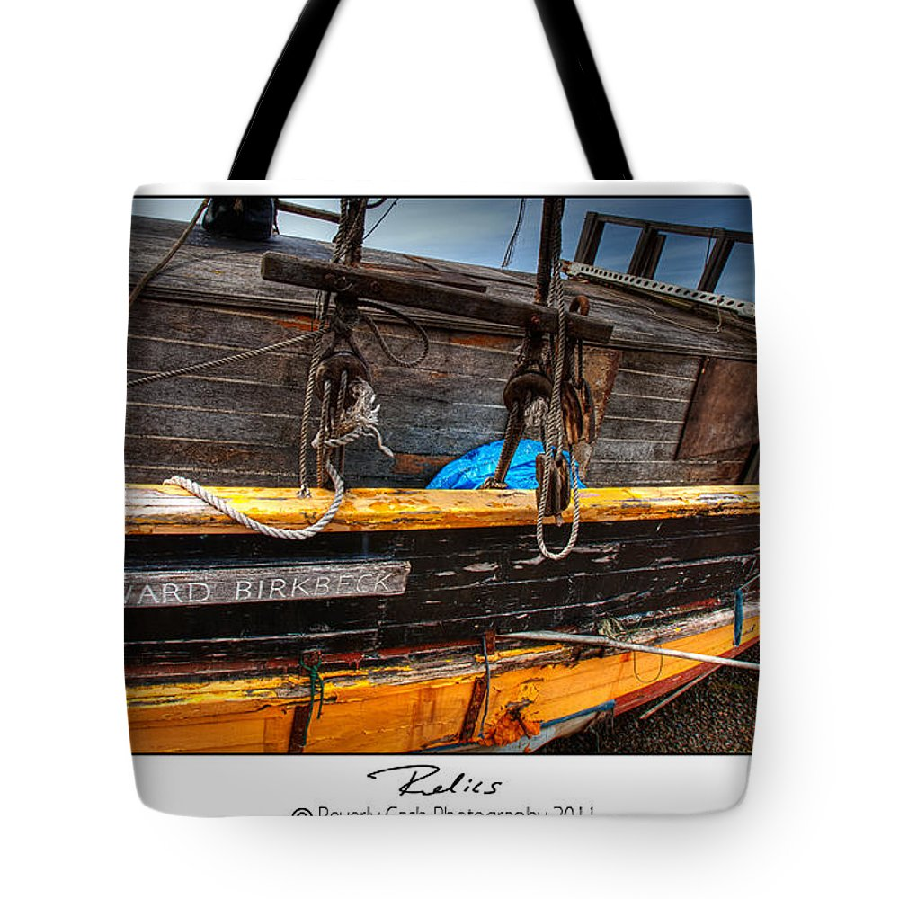 Old Tote Bag featuring the photograph Relics - Edward Birkbeck by Beverly Cash