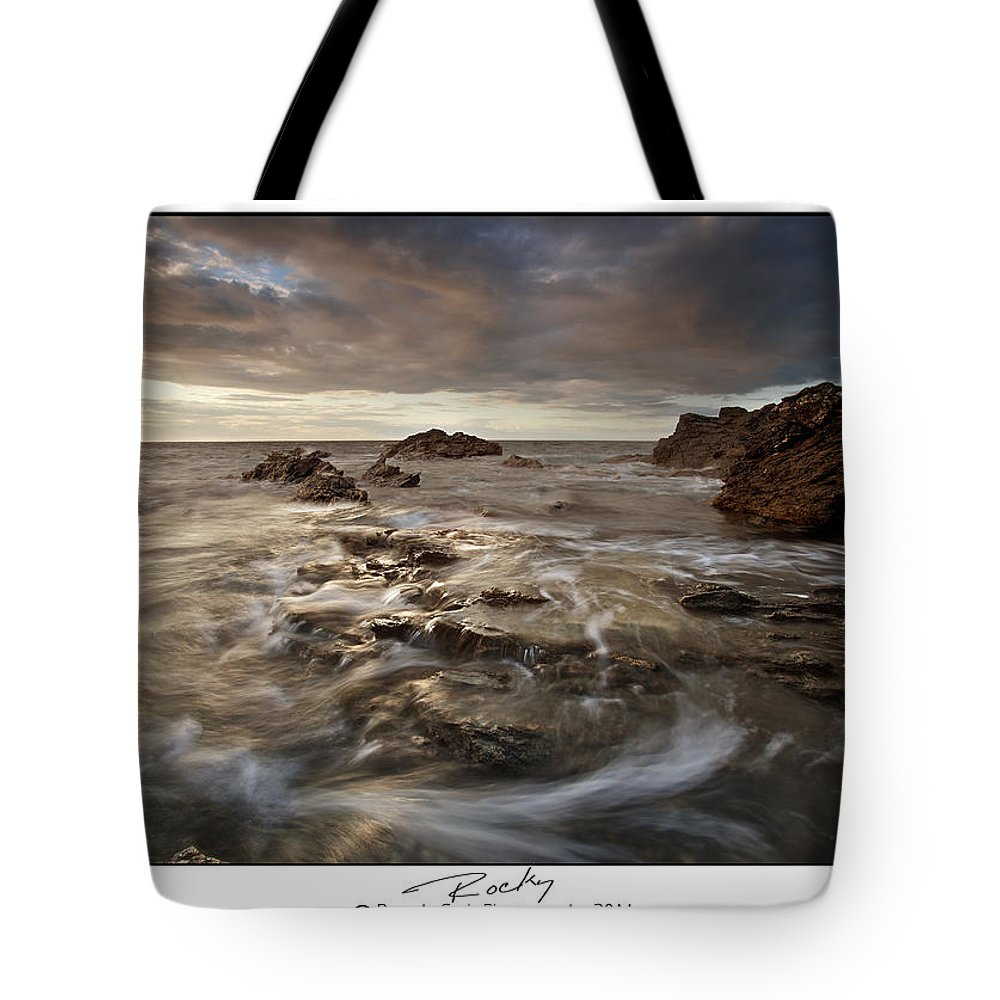 Seascape Tote Bag featuring the photograph Rocky - At Trearddur Bay by Beverly Cash