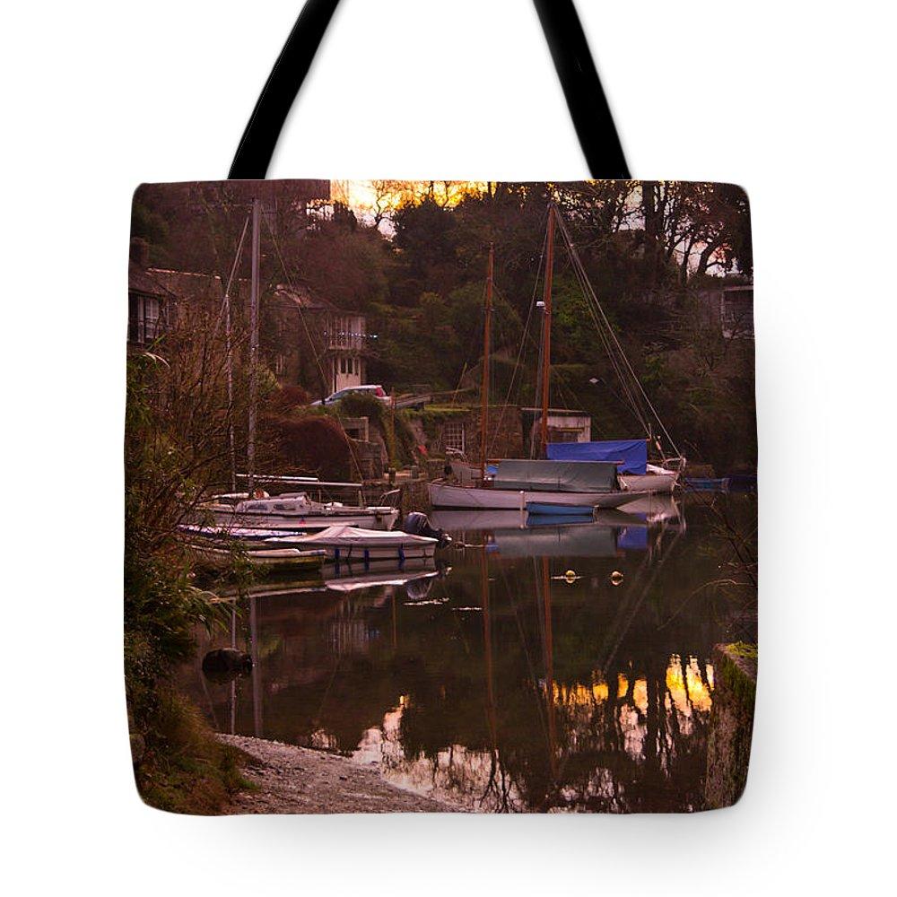 Port Navas Tote Bag featuring the photograph Sunrise Port Navas by Brian Roscorla