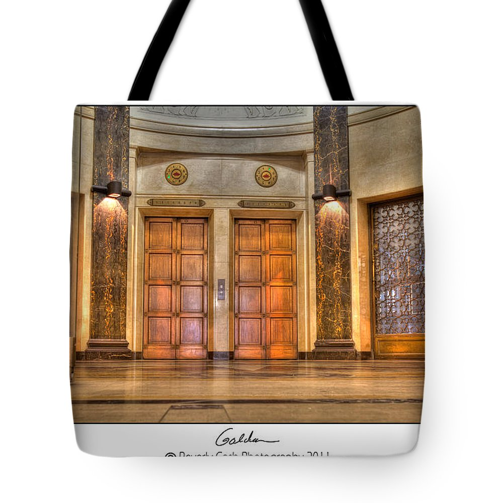 Foyer Tote Bag featuring the photograph Vintage Golden by Beverly Cash