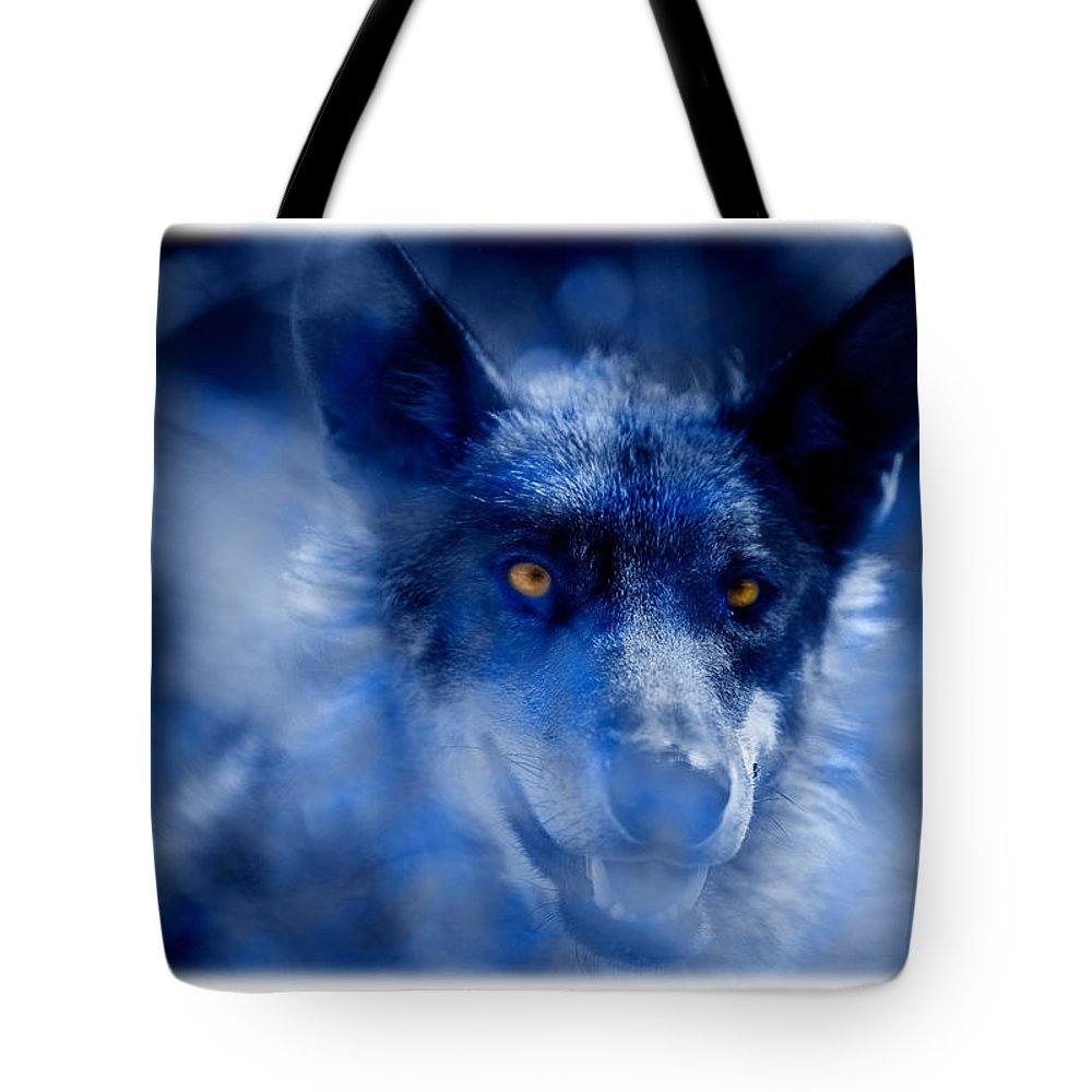 Wolf Tote Bag featuring the photograph Wolf by Mal Bray