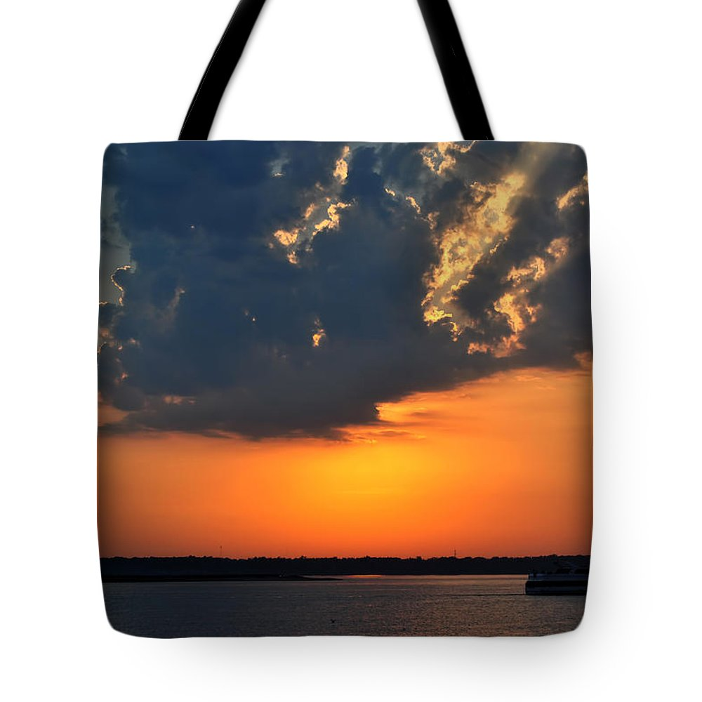 Tote Bag featuring the photograph 0002 Sunset Cruise by Michael Frank Jr