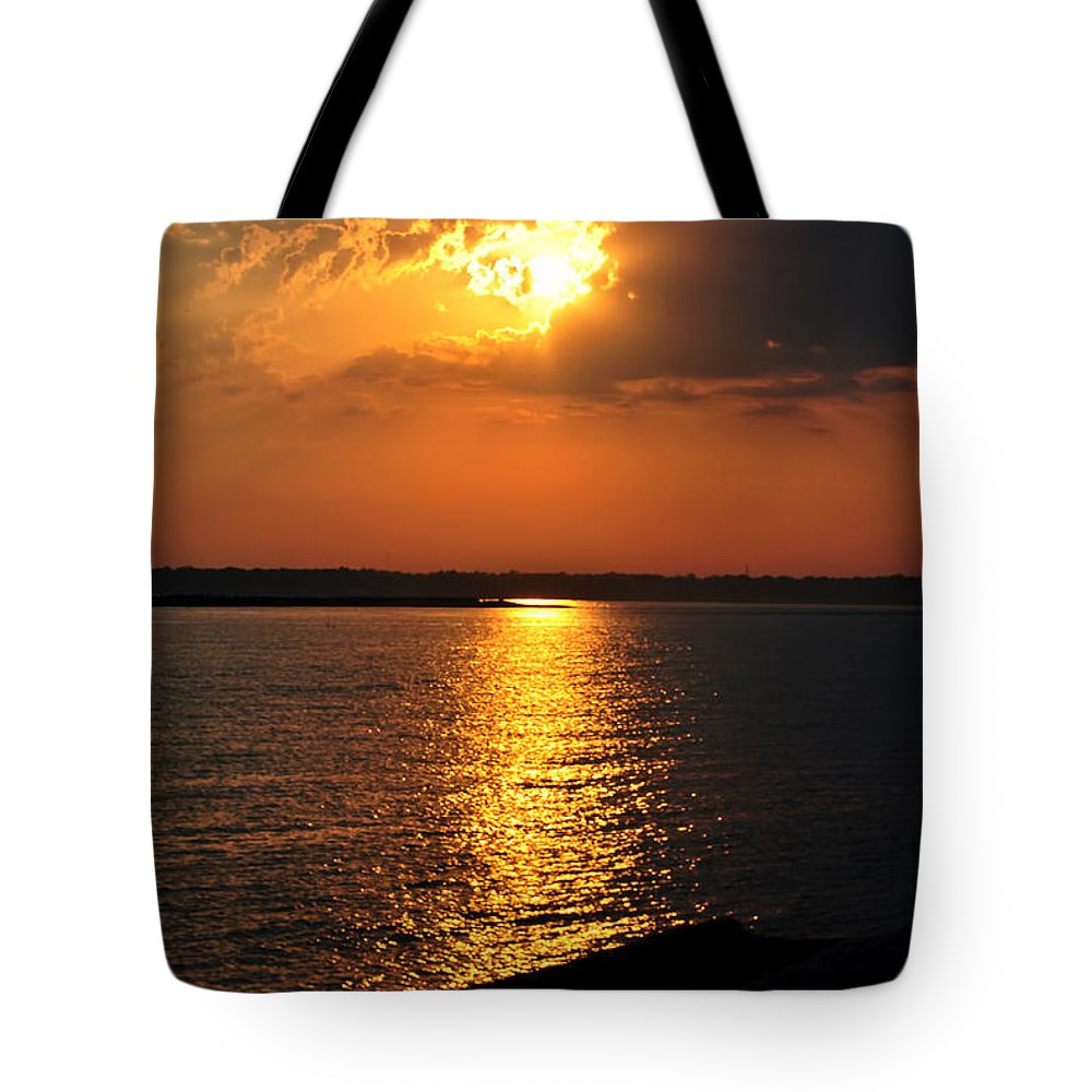 Tote Bag featuring the photograph 0003 Peeking Through by Michael Frank Jr
