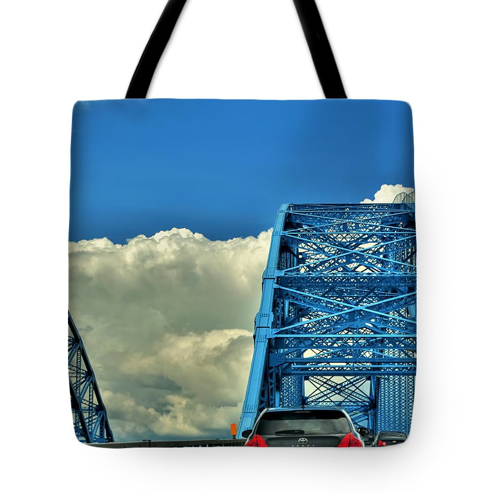 Tote Bag featuring the photograph 006 Grand Island Bridge Series by Michael Frank Jr
