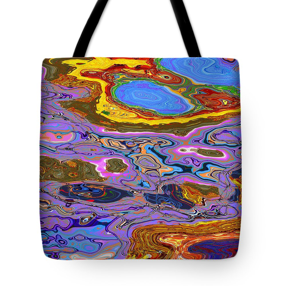Abstract Tote Bag featuring the digital art 0620 Abstract Thought by Chowdary V Arikatla