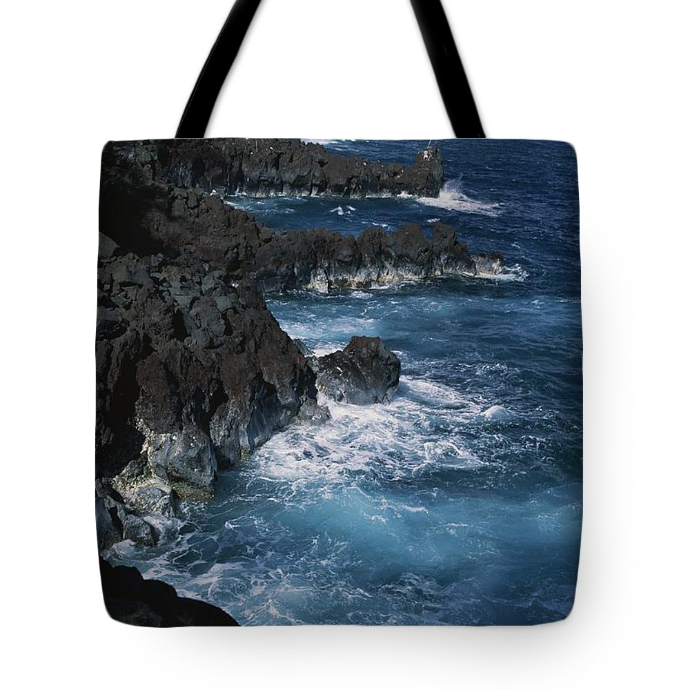 Pacific Islands Tote Bag featuring the photograph A Coastal View Of The Southeast Corner by George F. Mobley