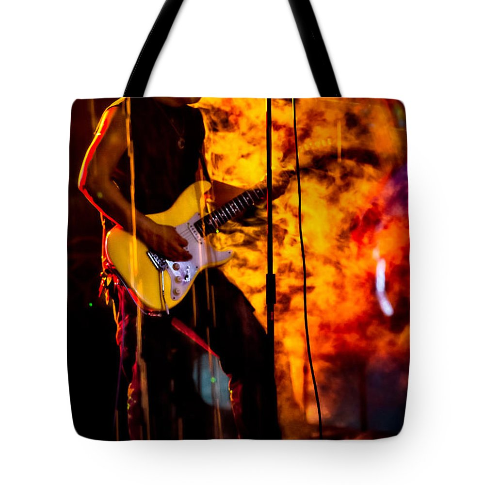 Music Tote Bag featuring the photograph A Little Heat by Christopher Holmes