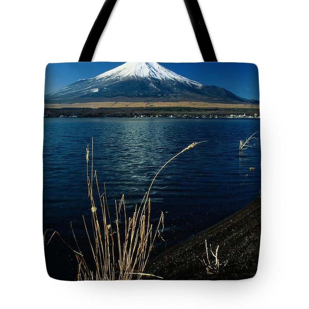 scenic Views Tote Bag featuring the photograph A Scenic View Of Mount Fuji Taken by Tim Laman