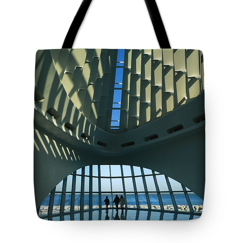 North America Tote Bag featuring the photograph A View Of The Inside Of The Milwaukee by Medford Taylor