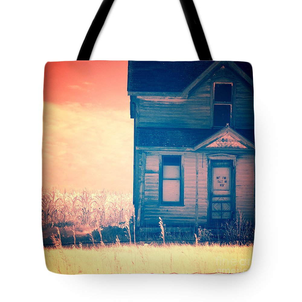 House Tote Bag featuring the photograph Abandoned House by Jill Battaglia