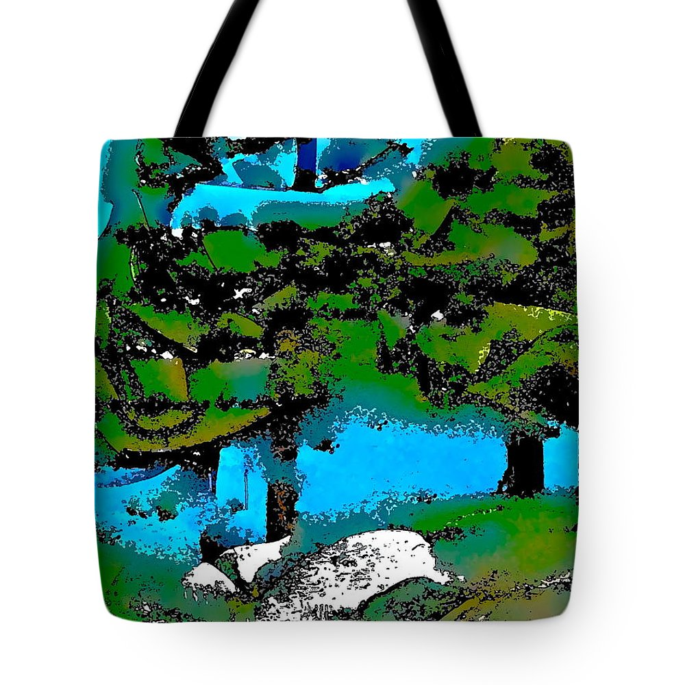 Abstract Tote Bag featuring the photograph Abstract 22 by Pamela Cooper