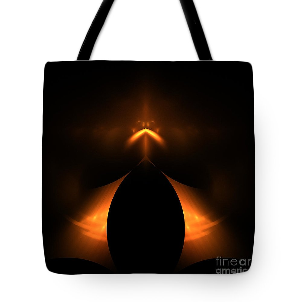 Fractal Digital Art Tote Bag featuring the photograph Abstract Fifty-one by Mike Nellums