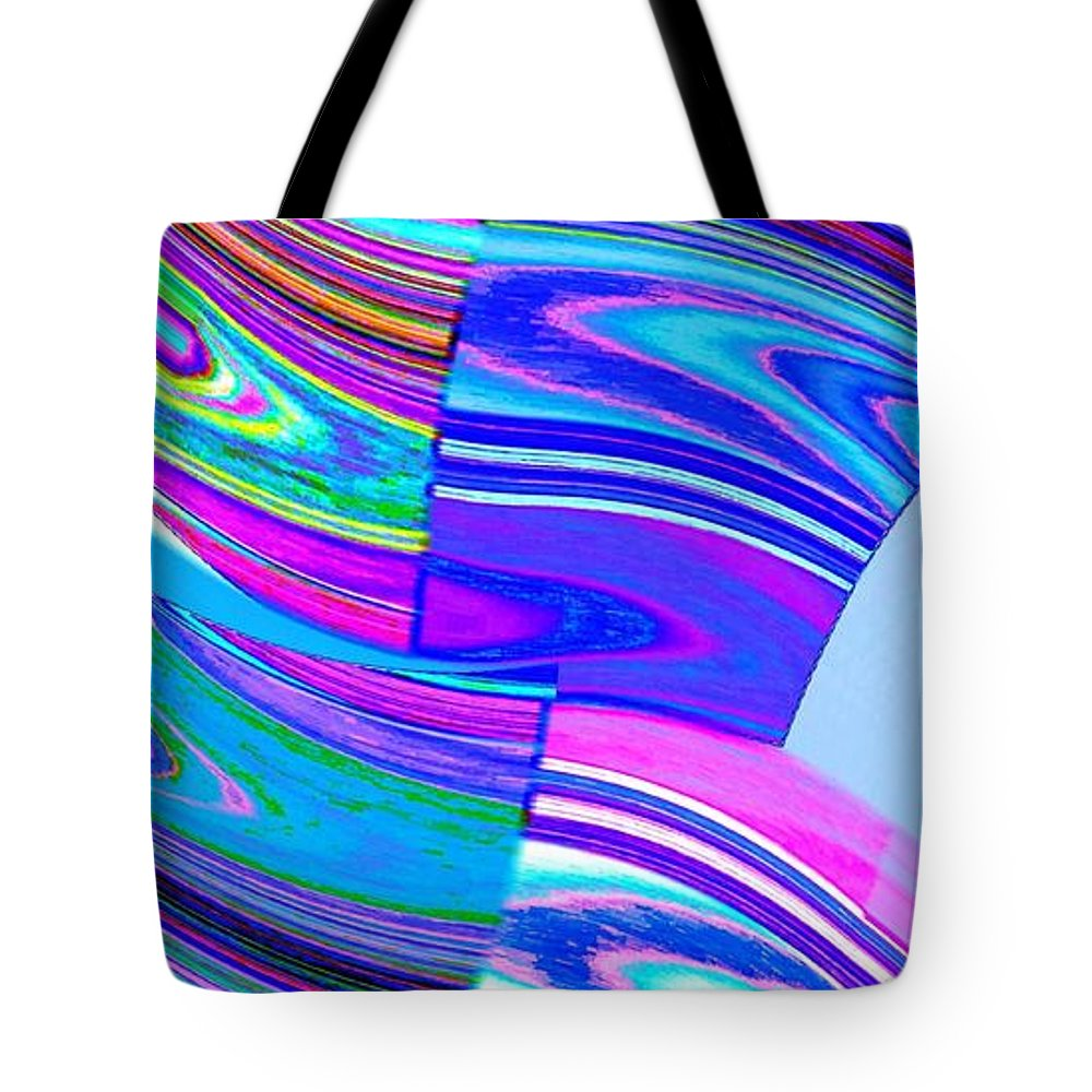 Abstract Fusion Tote Bag featuring the digital art Abstract Fusion 44 by Will Borden