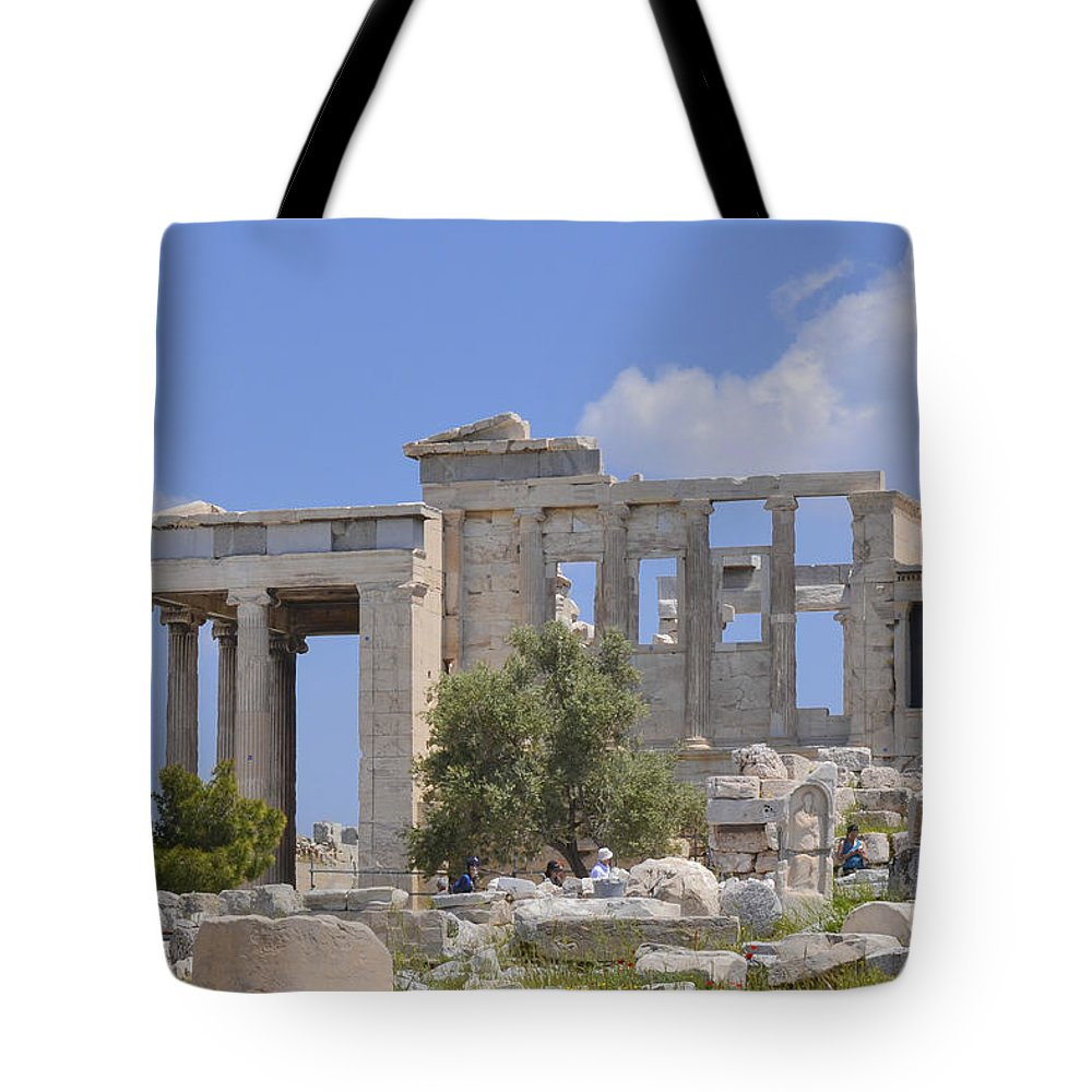 Athens Tote Bag featuring the photograph Acropolis by Theodore Jones