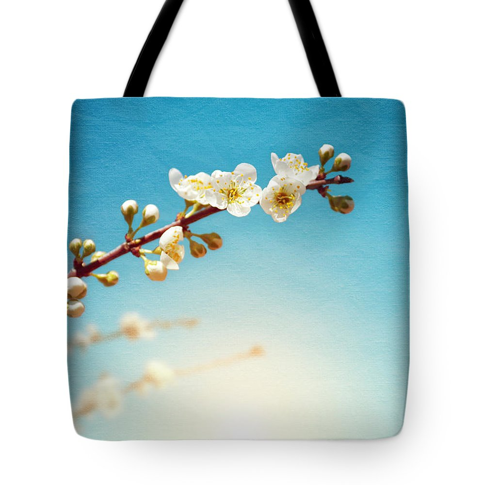 Abstract Tote Bag featuring the photograph Almond Branch by Carlos Caetano