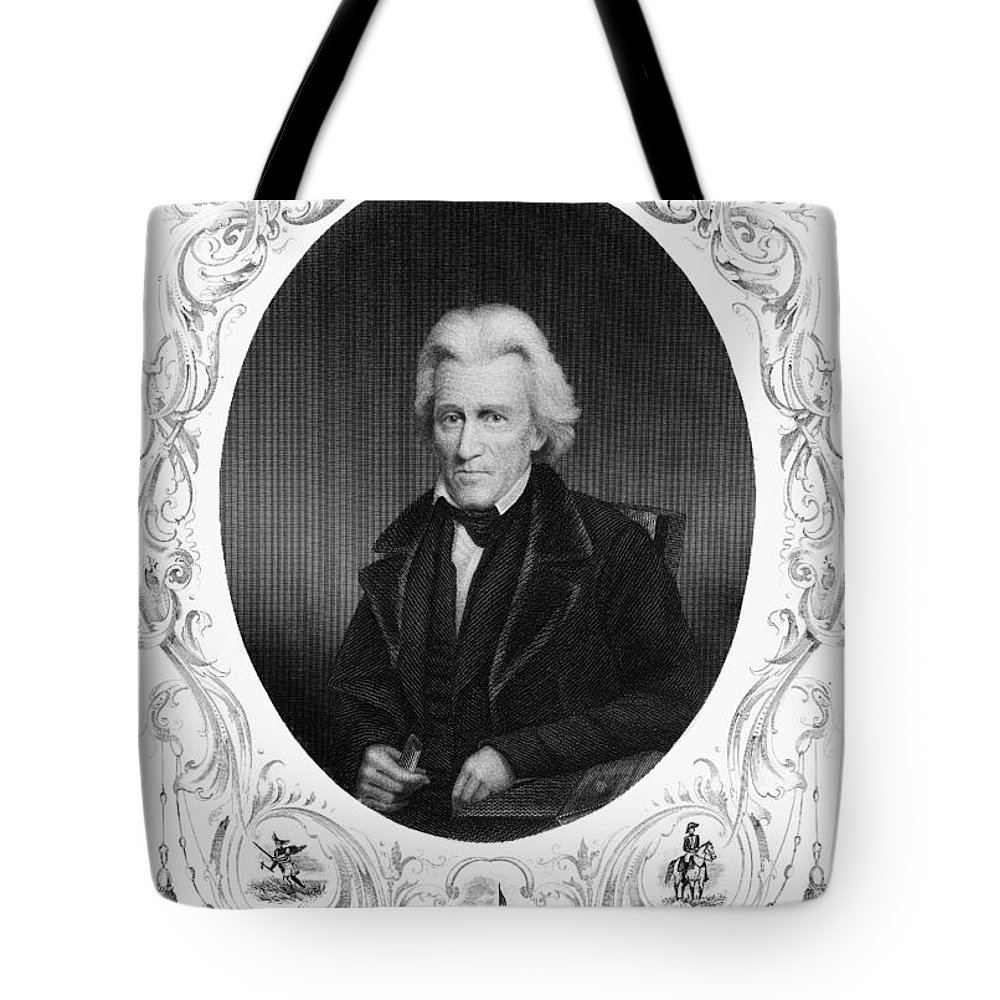 19th Century Tote Bag featuring the photograph Andrew Jackson (1767-1845) by Granger