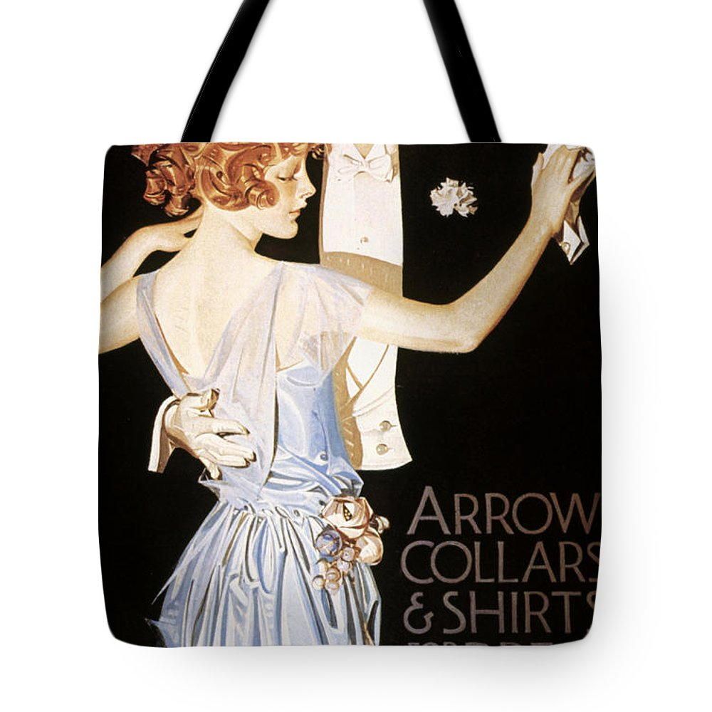 20th Century Tote Bag featuring the photograph Arrow Shirt Collar Ad by Granger