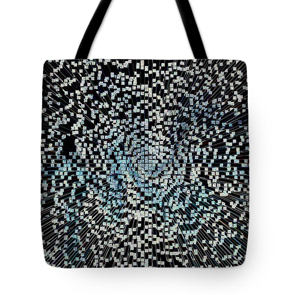 3d Tote Bag featuring the digital art Art Abstract 3d by David Pyatt