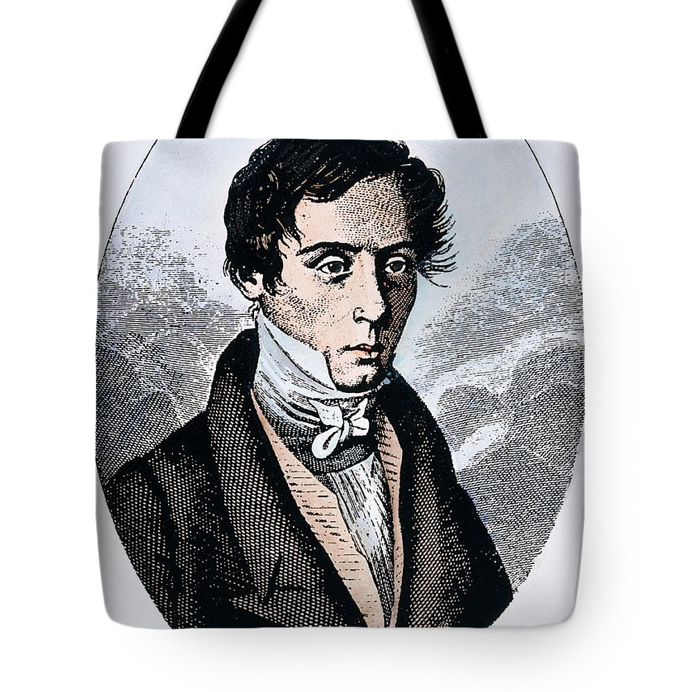 19th Century Tote Bag featuring the photograph Augustin-jean Fresnel by Granger