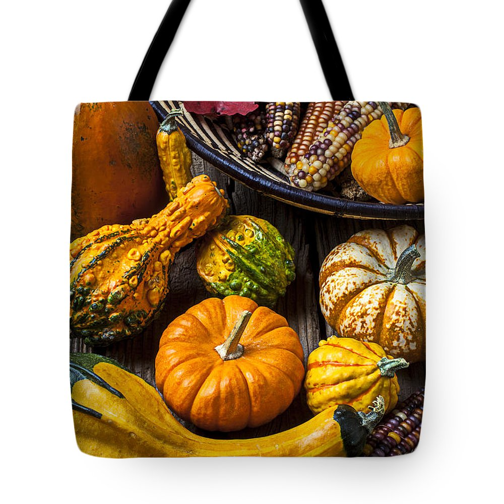 Gourd Tote Bag featuring the photograph Autumn Still Life by Garry Gay
