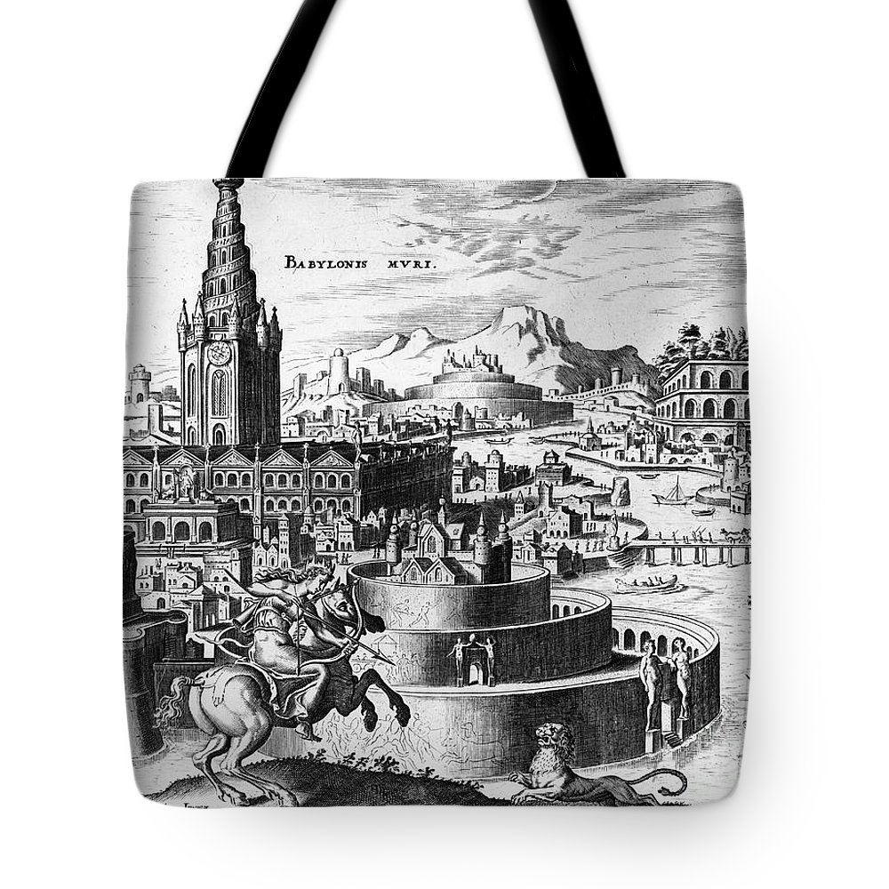1638 Tote Bag featuring the photograph Babylon: Hanging Gardens by Granger