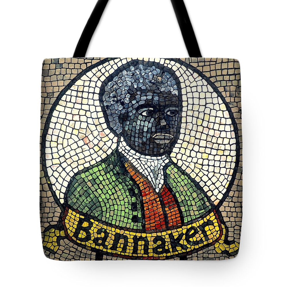 Black Man Tote Bag featuring the painting Bannaker by Cynthia Amaral