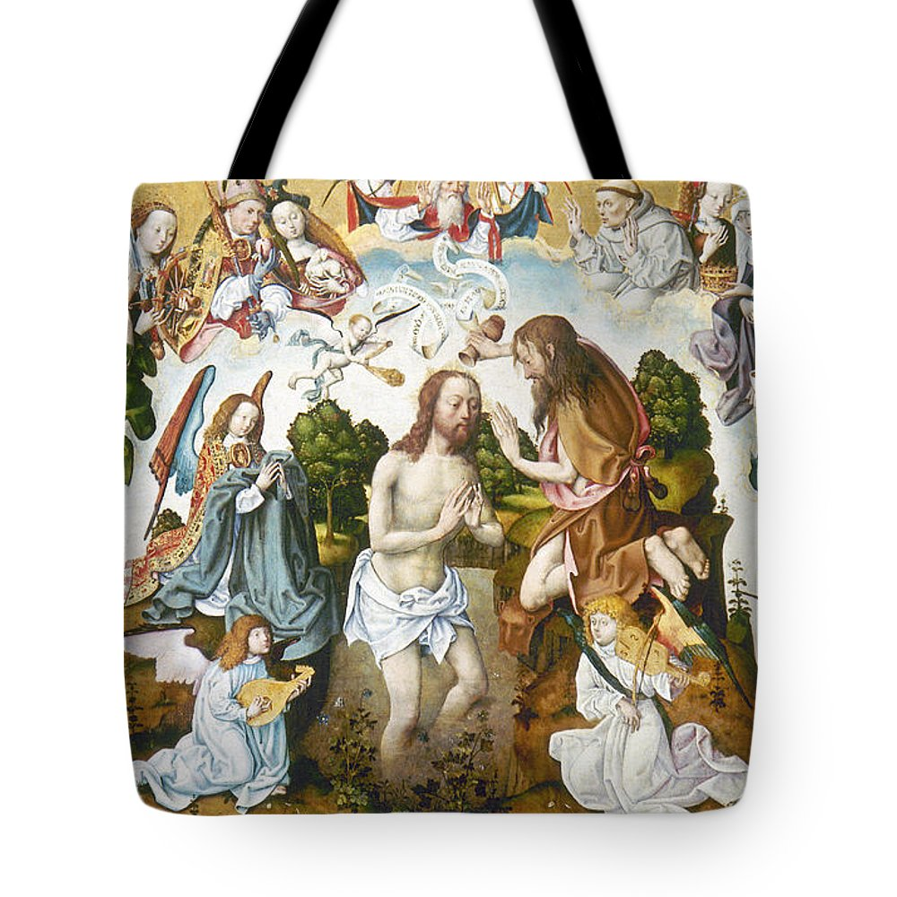 1485 Tote Bag featuring the photograph Baptism Of Christ by Granger