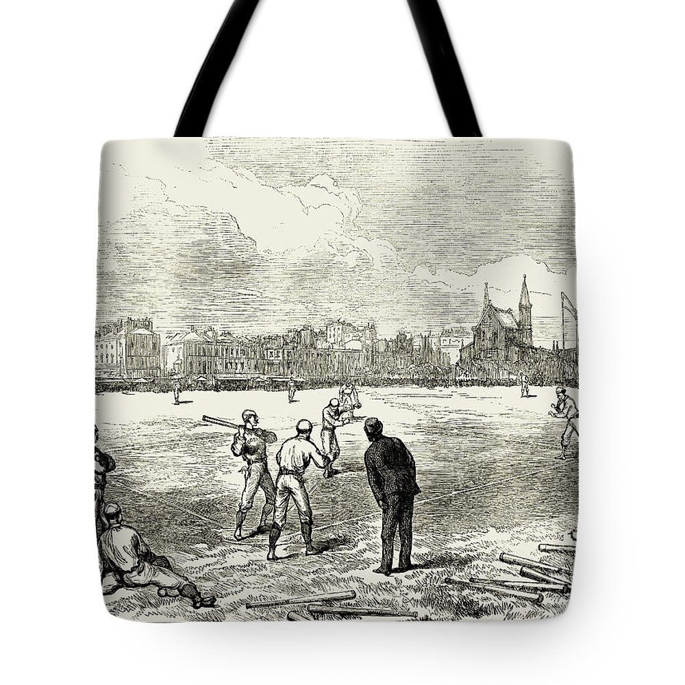 1874 Tote Bag featuring the photograph Baseball: England, 1874 by Granger