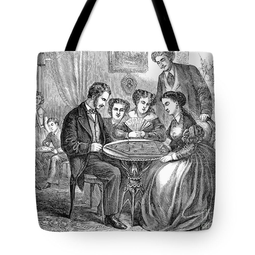 1866 Tote Bag featuring the photograph Baseball: Parlor Game by Granger