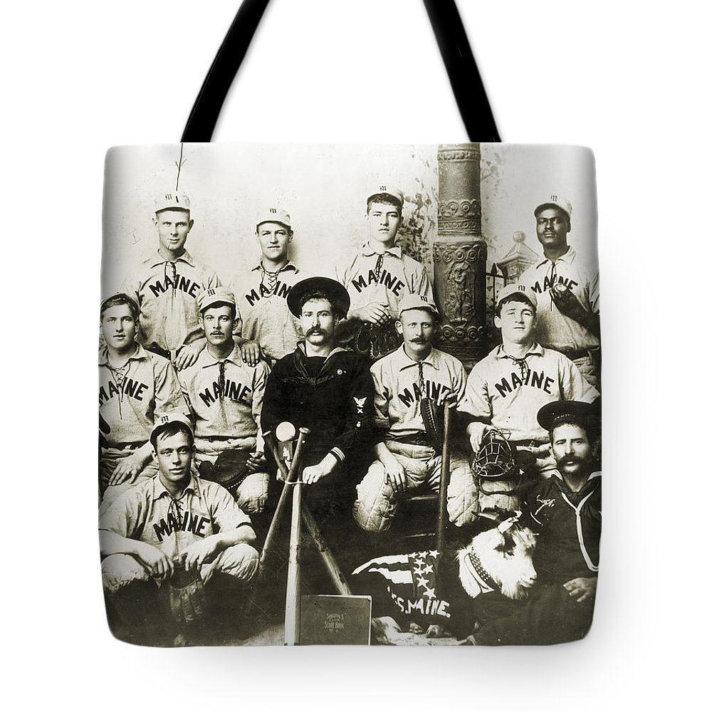 1898 Tote Bag featuring the photograph Baseball Team, C1898 by Granger