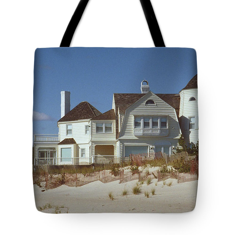 Beach Tote Bag featuring the photograph Beach House by Mark Greenberg