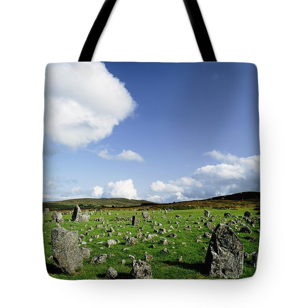Archeology Tote Bag featuring the photograph Beaghmore Stone Circles, Co. Tyrone by The Irish Image Collection