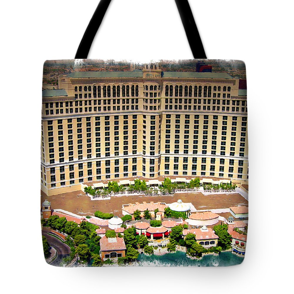 Las Tote Bag featuring the photograph Bellagio - Impressions by Ricky Barnard